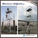 Double Width Aluminum Mobile Scaffold with Stair