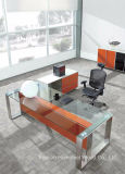 Chinese Factory Modern Executive Glass Desk, Office Furniture (HF-SIA002)