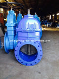 Big Sizes Non-Rising Resilient Gate Valve Bevel Gear Operated