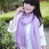 Fashion 50%Wool & 50%Bamboo Solid Scarf (13-BR010119-1.6)