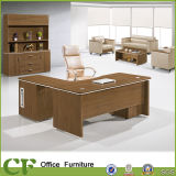 Modern Melamine Wood L Shape Executive Table with Side Desk
