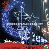 LED Ramadan Star and Moon Motif Light for Decoration