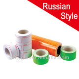 Russian Style White/Neon Color Adhesive Roll Price Label