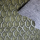 Cheap Embossed Fish-Scale Tote Bag Leather Fabric for Bag