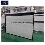 Cheap Price Electric Projection Screen/Iron Housing Motorized Screen with Manual Switch and RF Remote Control