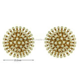 Wholesale Brass Jewelry Inlaid Ear Stud for Daily Wear (KE3084)