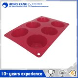 OEM Eco-Friendly 6 Cavity Silicone Muffin Bake Mold