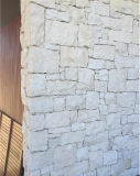 China White Sandstone Cultured Stone Tumbled Free Style Wall Cladding Stacked Stone
