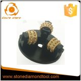 3 Rollers Type Diamond Bush Hammer Plates for Litchi Surface