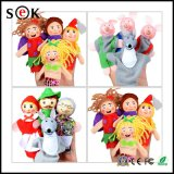China Factory Baby Cartoon Animal Monkey Dog Characters Finger Puppets Theater Show Soft Dolls Finger Toy