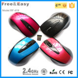 Glossy PU Color 2.4GHz Wirelss Mouse for Desktop/Laptop