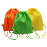 Promotion Cheap Plain Polyester Recycled Drawstring Bag Backpack