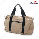Wholesale Retro Camel Cotton Canvas Sports Travel Duffel Bags