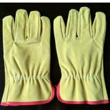 Good Quality Palm Cow Split Leather Safety Working Gloves