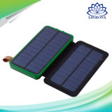 Solar Power Bank Waterproof Mobile Power Doubled Fold Portable Charger Power with Camping Light