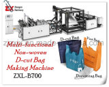 Environmental Nonwoven D-Cut Bag Non Woven Bag Eco Bag W-Cut Bag Making Machine with Best Price Fully Auto Bag Machine