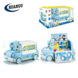 New Plastic Wholesale Blue Pretend Toys Musical Police Storage Car