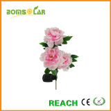 3 Pink Peony Solar LED Lights for Garden Solar Flower Price
