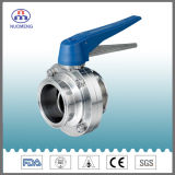 Stainless Steel Multiposition Handle Clamped Butterfly Valve