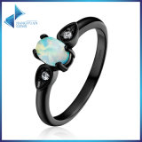 925 Sterling Silver for Women Jewelry Simple Oval Shape Opal Finger Ring
