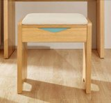 Solid Wooden Stool Leather Stool Dressing Stool (M-X2076)