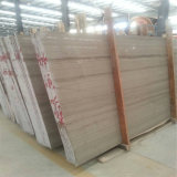 Silver Grey Hole Marble Wood Grain Straight Grain Travertine Marble