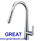 Brass Pull-out Kitchen Sink Tap and Faucet (GL90104A104)