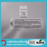 Custom Private Original Polyester Sticker Garment Printed Labels