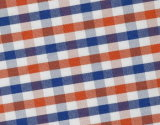 Red/Navy Checks Chequer Comfortable Polyester Cotton Shirt Fabric