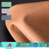1.2mm Environmental PVC Colorful and Soft Synthetic PU Leather with Embossed Lichee Pattern for Ladies Bags Making