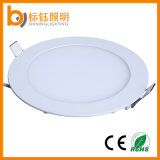 12W Slim Recessed Ceiling AC85-265V Round Super Thin Aluminum LED Panel Light