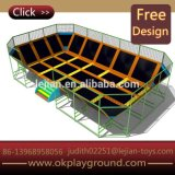 Excellent Top Sale Best-Price Homemade Middle Size Durable Rectangular Trampoline
