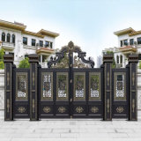 Wholesale Price House Building Material Front Exterior Custom Automatic Driveway Aluminum Sliding Gate Door Double Wrought Iron Steel Security Entrance Doors