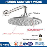 Brushed Nickel 10 Inch Top Shower Head with Wall Mounted Shower Arm