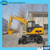 Hydraulic Wheel Excavator with Good Quality and Imported Hydraulic System