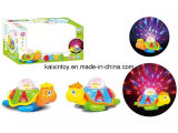 Battery Operated Turtle with Flashing Light and Music for Kids