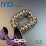 Elegant Rhinestone Shoe Buckle for Women′s Dress Shoes with Pearl