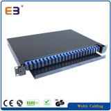 1ru Rack Mount Fiber Patch Panel Enclosure Loaded Sc Adaptors & Splice Tray