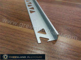 Aluminum Profiles L Shape Tile Edge Trim with Height 10.5mm and Matt Silver Color