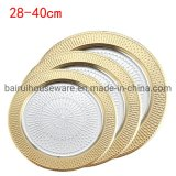 Wholesale Stainless Steel Plate Food Dish Dinner Plate for Restaurant Hotel No. H-01f