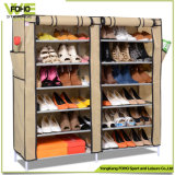 Double Row Large Size Removable 50 Pair Shoe Rack with Cover