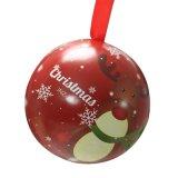 Christmas Tin Ball for Candy