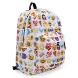 Polyester Shoulder School Book Bags Cute Girls QQ Printing Emoji Backpack