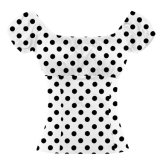 Customized Designs Polka DOT Printed off Shoulder Tops