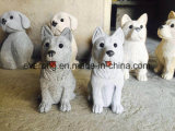 Lovely Stone Granite Small Animal Dog Carving Statues for Outdoor Garden