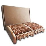 Wooden Dual Foot Massager Roller Best Pain Relieve Therapy Device