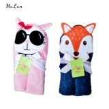 Embroidery Animal Head Baby Hooded Towel with Good Price
