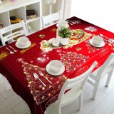 Christmas Gift Polyester Waterproof Dustproof Tablecloth