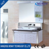 New PVC Mirrored Bathroom Vanity for Sale with Side Cabinet
