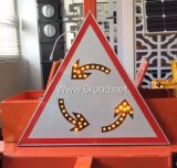 Arrow Triangle Solar LED Traffic Road Signs